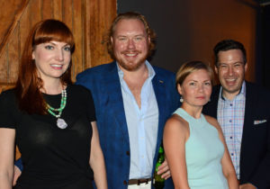 Pictured (LtoR) Christina Giffin, Monument Sotheby's International Realty realtor; Ethan Giffin, Groove founder/CEO; Anastasia Steinberg, HD Supply construction account executive; and Jeremy Steinberg, Anson Capital principal