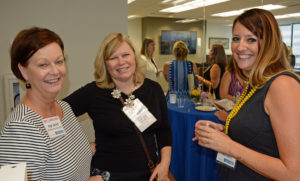 Pictured (LtoR) Angie Barnett, Better Business Bureau president/CEO; Terri Harrington, event co-host; and Bailey T. Susic Towson University project manager