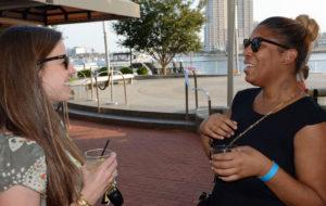 Pictured (LtoR) Rachel Cook, Sagamore Spirit director of brand development; and Casey Brent, Baltimore Mayor's Office special assistant to the deputy mayor of economic and neighborhood development