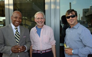 Pictured (LtoR) Eric Bryant, Rifkin Weiner Livingston attorney; James De Lorbe, MADE: In America chair; and Brian Treacy, Sagamore Spirit president