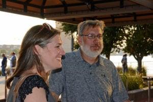 Pictured (LtoR) Kim Stanbro, Baltimore-based program manager; and Dave Wismer, Baltimore-based engineer