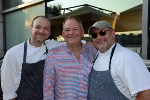 Pictured (LtoR) Zack Mills, Wit & Wisdom executive chef; Craig Rogers, MADE: In America national advisory board chair; and Jerry Pellegrino, Schola chef/owner