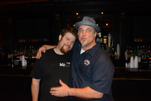 Pictured (LtoR) Dan Fisher, Rome Audio sound engineer; and Adam Rather, Mother's owner/executive chef/GypsySoulRevival bassist