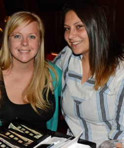 Pictured (LtoR) Hannah Wulczyn, Mother's waitress/special events coordinator; and Elena Caballero, Mother's waitress/future RN