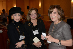Pictured (LtoR) Bluma Jed, Violette Cocoros, and Susan Tallus, community volunteers