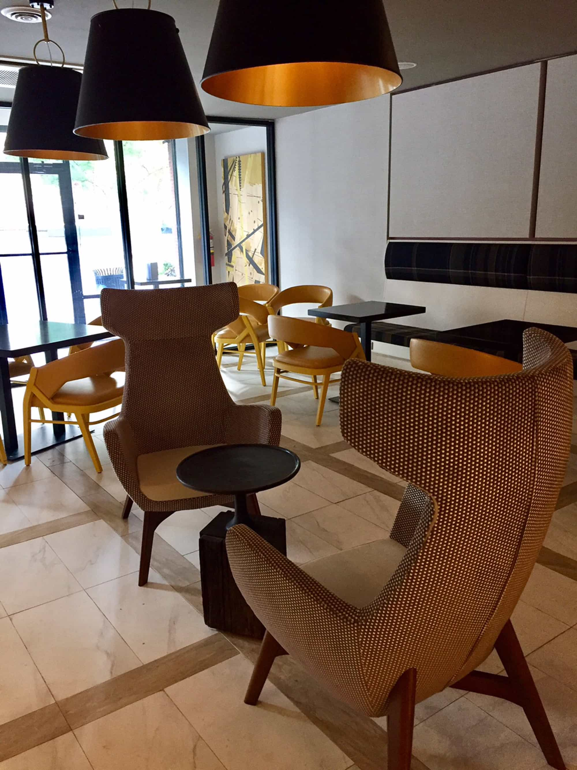 I was also impressed with the stylish lounge space adjoining the ...